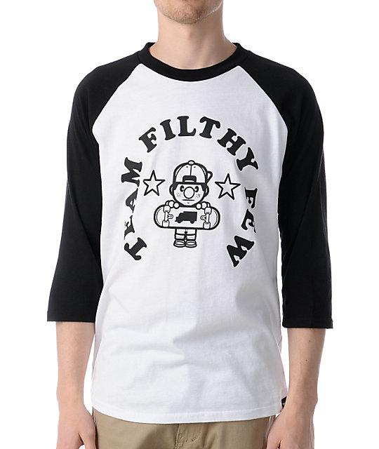 Trukfit Filthy Few Black Baseball T-Shirt