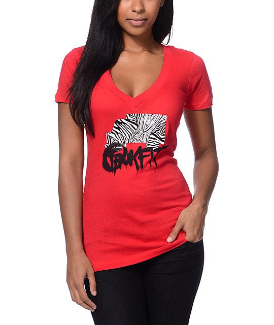 Trukfit Foundation Red V-Neck T-Shirt