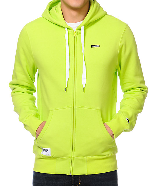 Trukfit Full Lime Zip Up Hoodie