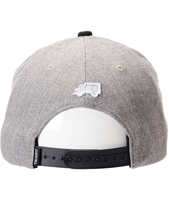 Trukfit Kick Rocks Charcoal Snapback Hat