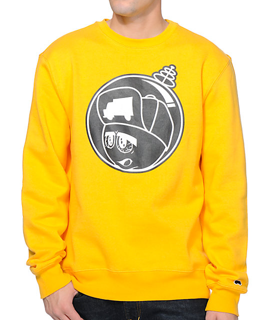 Martian Yellow Crew Neck Sweatshirt