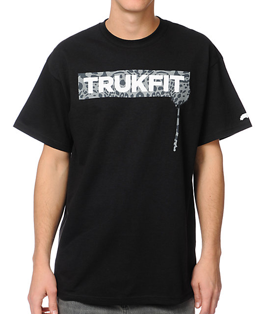 Trukfit Original Drip Cheetah Black T-Shirt