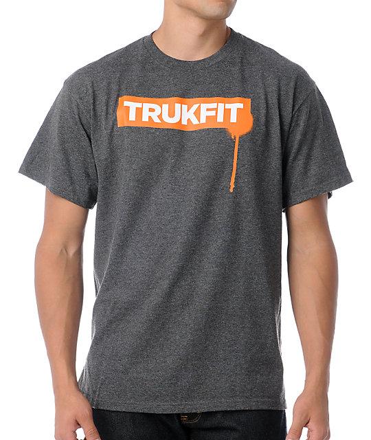 Trukfit Original Drip Orange & Charcoal Grey T-Shirt