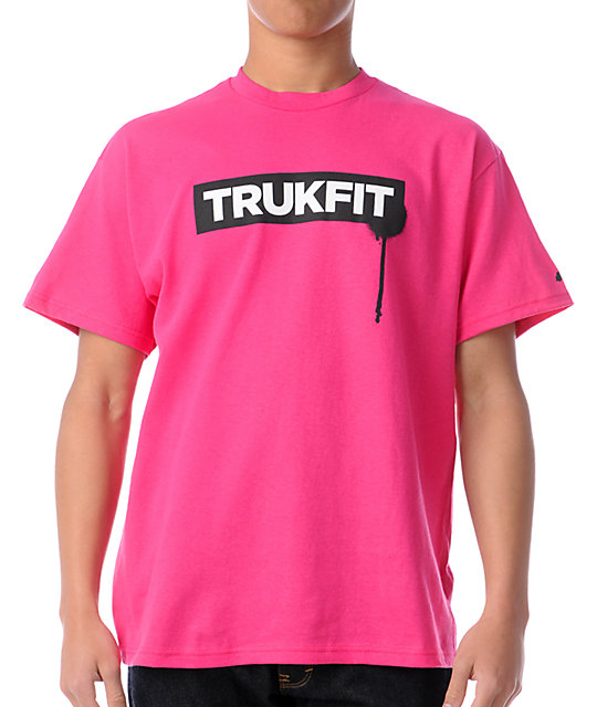 Trukfit Original Logo Pink T-Shirt