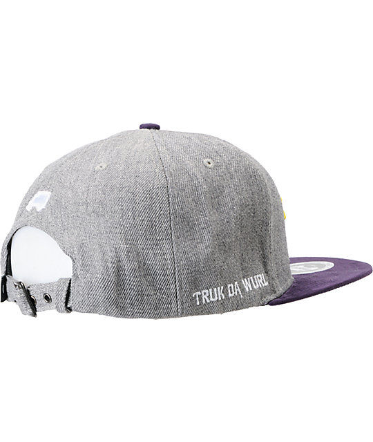 Trukfit Palm This Charcoal & Purple Strapback Hat