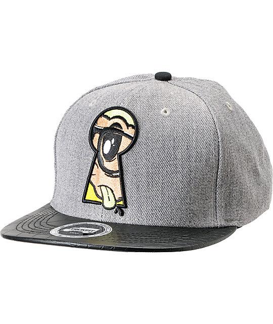 Trukfit Peek A Boo Charcoal Snapback Hat