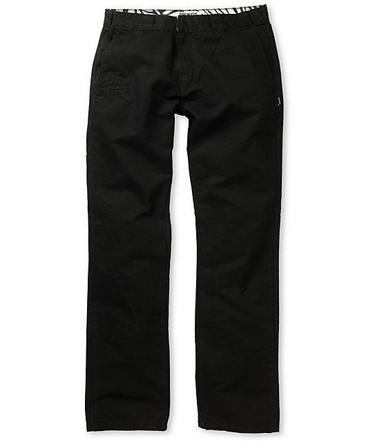 Trukfit Solid Black Regular Fit Chino Pants