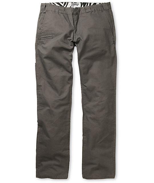 Trukfit Solid Grey Regular Fit Chino Pants