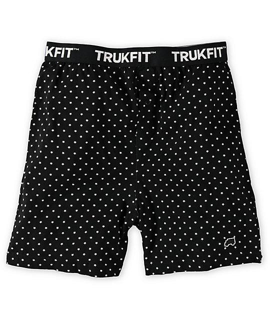 Trukfit Star Polka Dot Black Knit Boxers