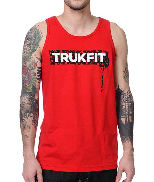 Trukfit Stardrip Red Tank Top