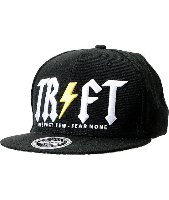 Trukfit TRFT Black Snapback Hat