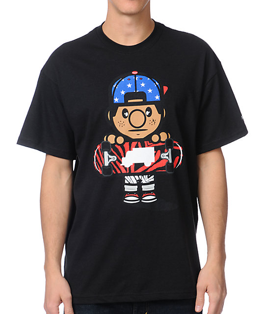 Trukfit Tommy Flag Black T-Shirt