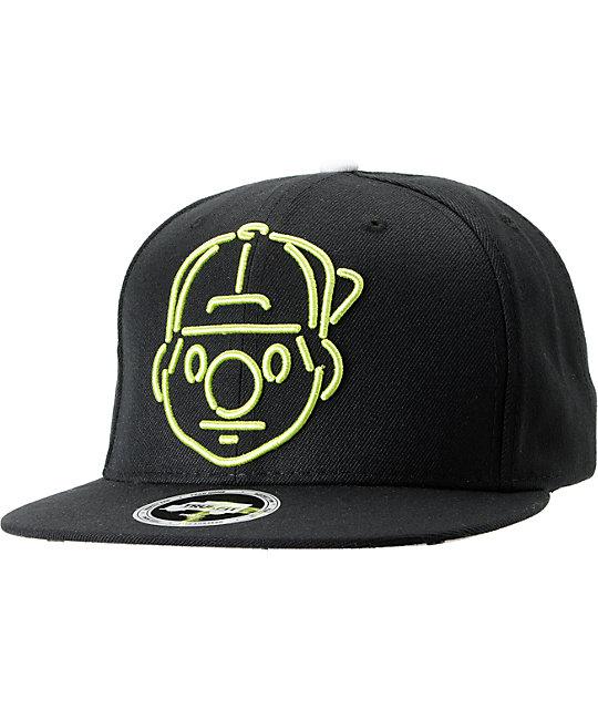 Trukfit Tommy Neon Black Snapback Hat