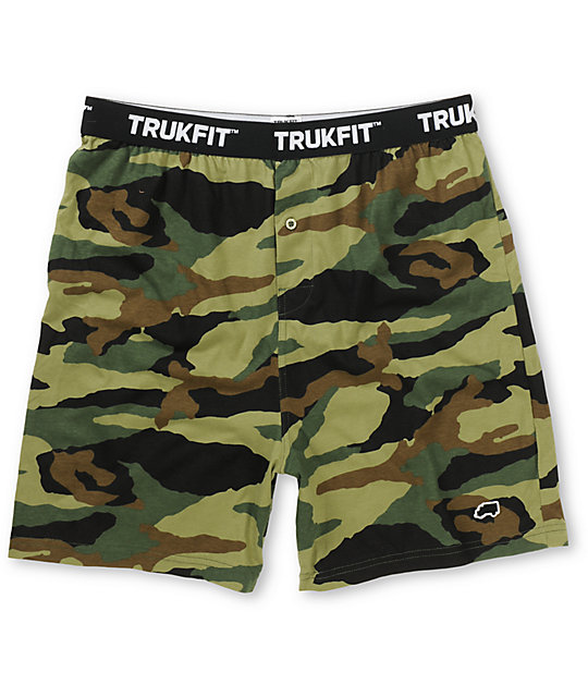 Trukfit Woodland Camo Knit Boxers