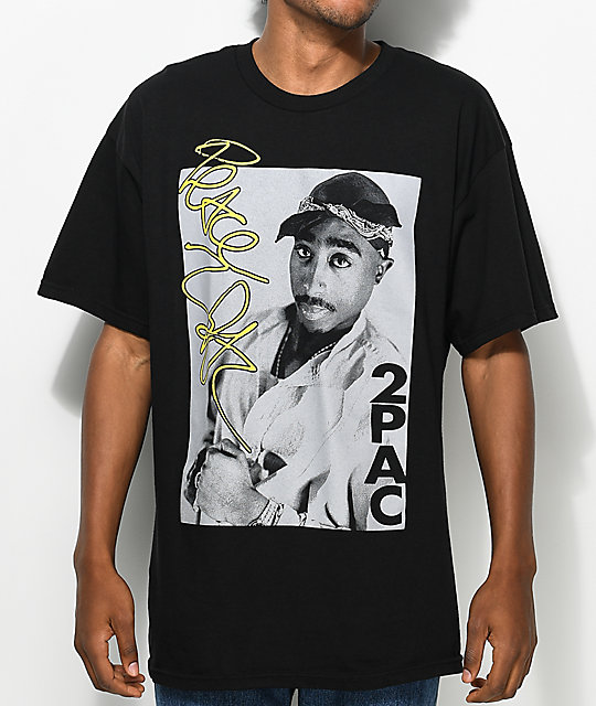 tupac signature edition black t shirt zumiez. Black Bedroom Furniture Sets. Home Design Ideas
