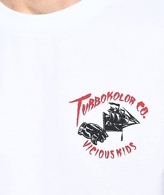 Turbokolor Co. Pirate White T-Shirt