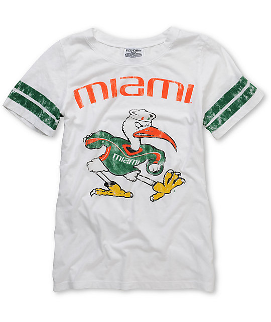 U Of Miami Hurricanes Crew College Football T-Shirt
