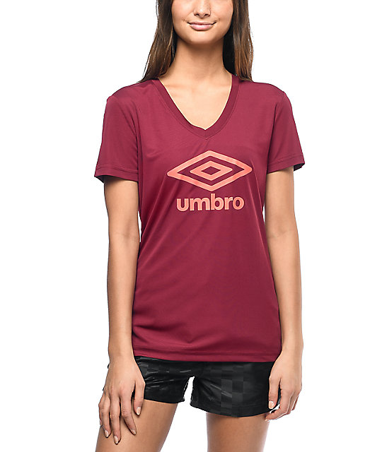 Umbro Athletic Burgundy Logo T-Shirt
