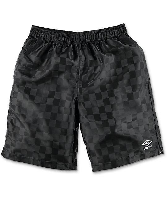 Umbro Checker Black Athletic Shorts
