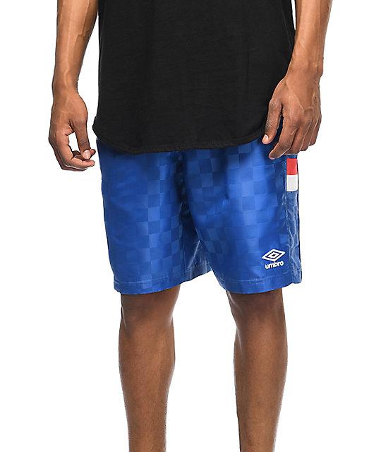 Checker Royal Blue Athletic Shorts