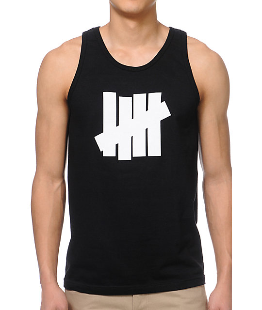 Undefeated 5 Strike Black Tank Top