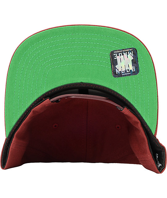 Undefeated 5 Strike Burgundy Snapback Hat
