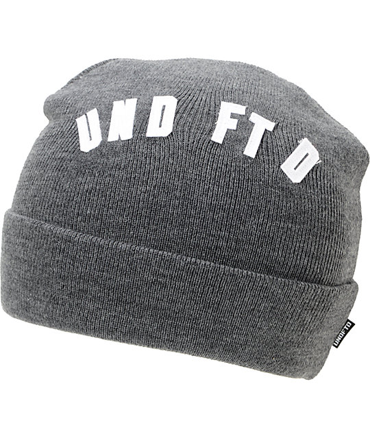 Undefeated Felt Grey Cuff Beanie