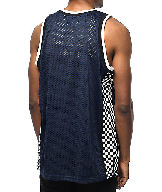 Undefeated Finish Line Navy Basketball Jersey