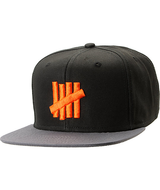 Undefeated Five Strike Black & Charcoal 2-Tone Snapback Hat