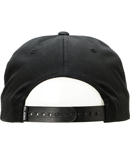 Undefeated Five Strike Black Snapback Hat