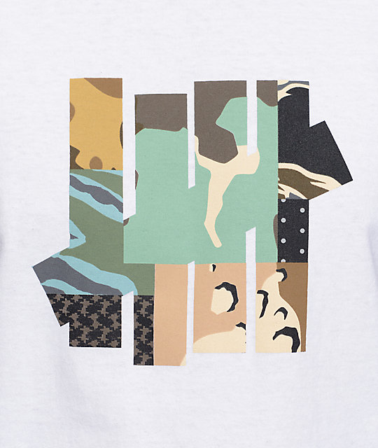 Undefeated Patchwork Strike camiseta blanca