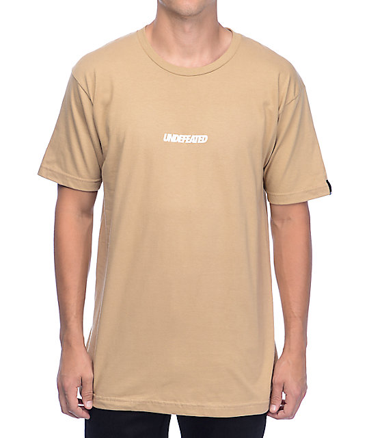 Undefeated Unbalanced Tan T-Shirt