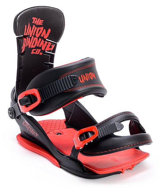 Union Contact Blood Splatter Red & Black Snowboard Bindings