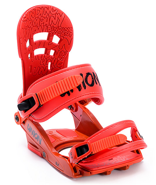 Union DLX Red Snowboard Bindings