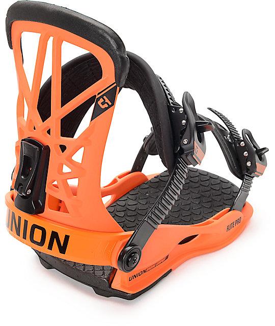 Union Flight Pro Orange Snowboard Bindings