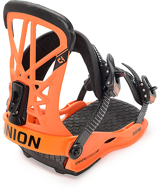 Union Flite Pro Orange Snowboard Bindings