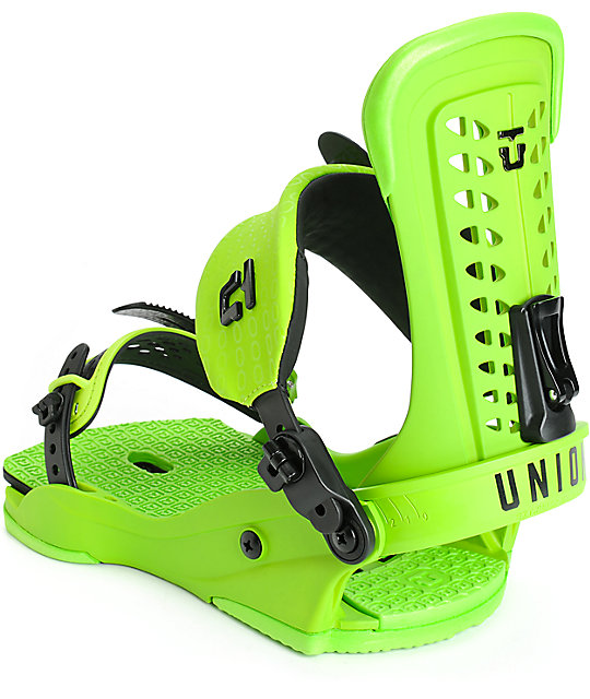 Union Force Snowboard Green Bindings