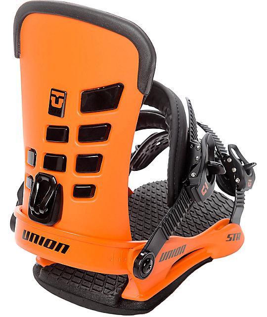 Union STR Orange Snowboard Bindings