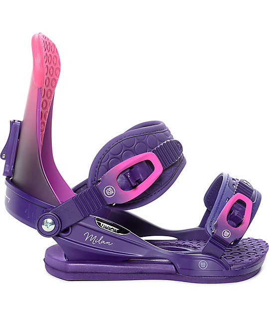 Union Womens Milan Plum Snowboard Bindings