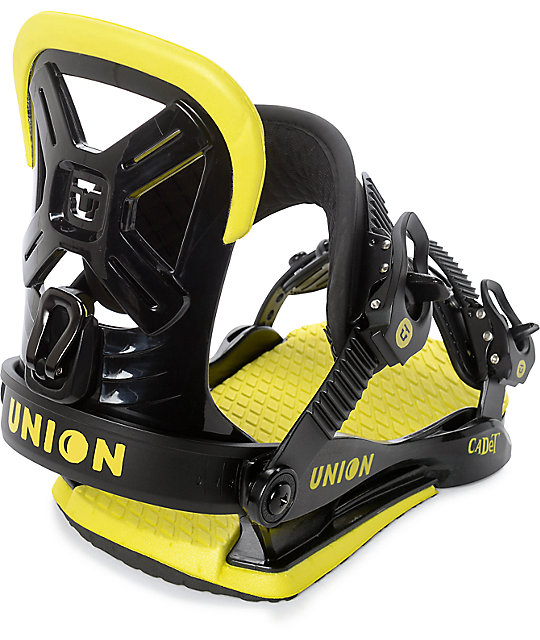 Union Youth Cadet Black Snowboard Bindings