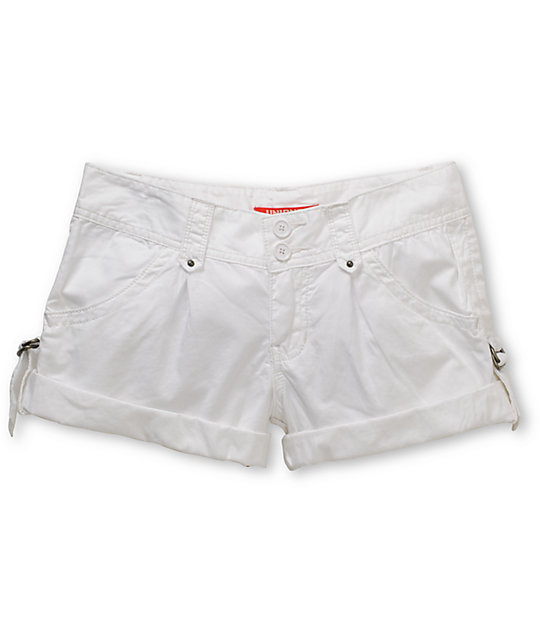 Unionbay Laurel White Poplin Shorts