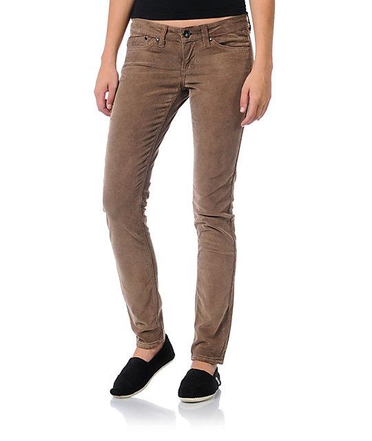Unionbay Lucille Brownstone Corduroy Skinny Pants