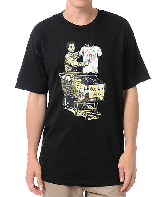 Upper Playground Bubbles Depot Black T-Shirt