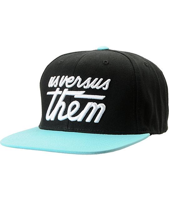 Us Versus Them Magnum Black & Turquoise Snapback Hat