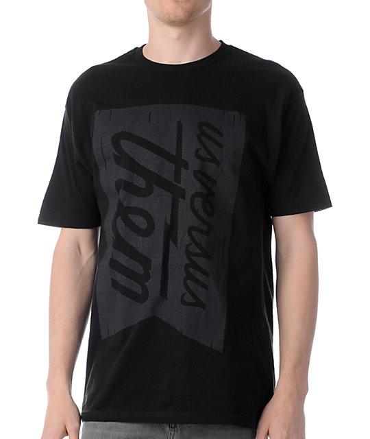 Us Vs Them Banner Magnum Black T-Shirt