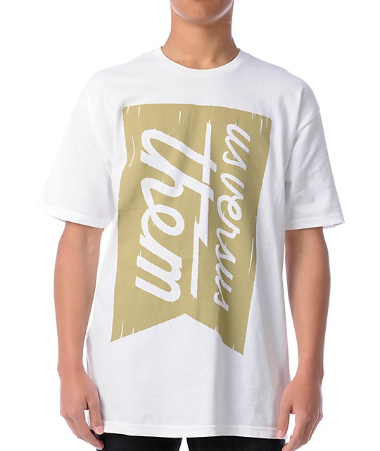 Us Vs Them Banner Magnum White T-Shirt