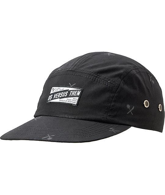 Us Vs Them Biscayne Black 5 Panel Hat