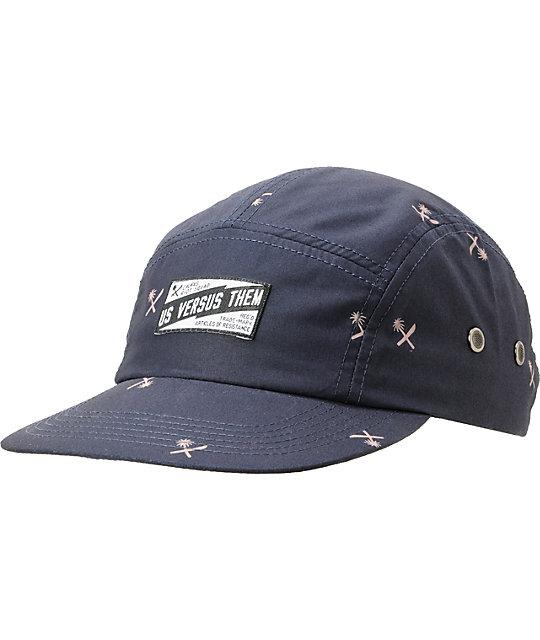 Us Vs Them Biscayne Navy Blue 5 Panel Hat