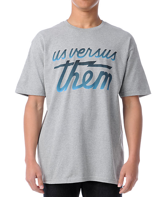 Us Vs Them Magnum Fade Heather Grey T-Shirt