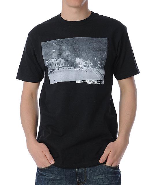 Us Vs Them No Guns Neighborhood Black T-Shirt